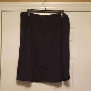 Dana Buchman XL Ladies Navy Skirt New 26 in length